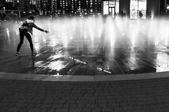 untitled (gregor.zukowski) Tags: warsaw warszawa mall shopping street streetphoto streetphotography blackandwhite blackandwhitestreetphotography bw monochrome fountain night nightlife fujifilm