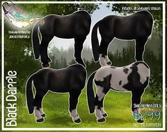 Jinx Centaur - Black Skin (Sodap0pp) Tags: jinx centaur black skin fur second life secondlife avatar mod fantasy