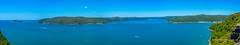 Entrance to the Hawkesbury River, NSW from Warrah Lookout. (Peter.Stokes) Tags: australian australia colour landscapes landscape nature photo panorama photography coast colourphotography outdoors river awayfromitall