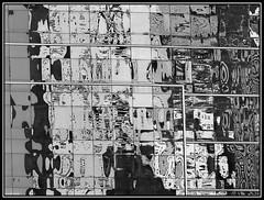 (Caro Rolando) Tags: blancoynegro blackandwhite reflejos reflejo vidrio ventana ventanas vidrios puzzle juego monocromo monocromatico grises gamadegrises