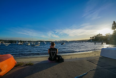 DSC01459 (Damir Govorcin Photography) Tags: water boats sydney golden sunset hour person sky clouds watsons bay wide angle composition natural light sony zeiss a7rii 1635mm shadows