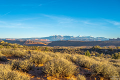 Mt. Waas (yarnim) Tags: utah moab archesnationalpark mountain landscape sky clouds snowcap snowcapped field land sony a7m3 a7iii ilce7m3 sel24105g 24105mm 24105 sonylens zoom lens