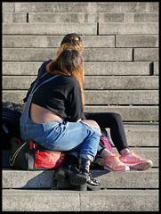Düsseldorf - Burgplatz (abudulla.saheem) Tags: net netz women frauen stairs stufen stairway treppe burgplatz düsseldorf rhineland rheinland nrw germany deutschland panasonic lumix dmctz101 abudullasaheem