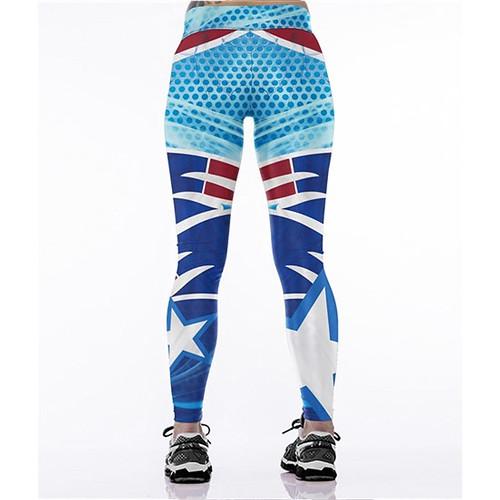 Women Leggings New England Patriots Sport Print Running Active Sportswear High Waist Pant Sexy Slim Hip Fitness Jogger Gym