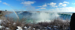 Rainbow onto Niagara Falls (AncasterZ) Tags: niagarafalls rainbow winter waterfalls falls sonya7rii fe1635mmf4 stitch panorama pano