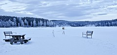 Frozen lake Sognsvannet (somabiswas) Tags: frozen lake sognsvannet sognsvann winter norway landscape ice snow travel