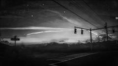 Lost on Beautcatcher Mountain (elsa.brenner) Tags: trafficlights nighttime lost steepslope climb beaucatchermt absoluteblackandwhite