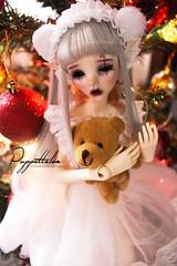 Merry Christmas! (Puppet Tales Dolls) Tags: ooak ooakdoll repaint dollrepaint custom customization bjd balljointeddoll dollchateau dollzone dollzonestar christmas happyholiday bjdcustom faceup makeup art draw cute kawaii