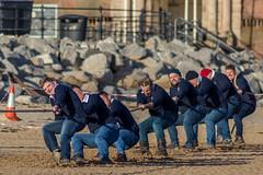 New Brighton tug-of-war contest (Philip Brookes) Tags: tugofwar rope contest sport rnli lifeboat newbrighton wirral uk merseyside england britain beach sand merseydivers coast