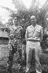 Frank Knapp (right) (Knapp Family History Photos) Tags: wwii knapp milne bay new guinea camoflage
