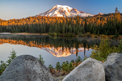 Rainier Sunrise (jeff's pixels) Tags: mountrainiernationalpark mountrainier mountain landscape pnw outdoors washington nikon d850 nikkor nature reflection bird plane bus