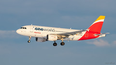 OneWorld (keriarpi) Tags: lhbp bud ferihegy spotter spotting spotterdomb domb jet airplane aircraft plane airline airlines cockpit sky livery grass tree forest one world oneworld eckhm airbus a319111 iberia a319