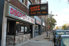 Disco City (Flint Foto Factory) Tags: chicago illinois urban city autumn fall november 2018 logansquare discocity records tapes lps music videos 2628 nmilwaukeeave milwaukee store front sign signage video