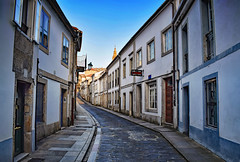 Evening in Santiago (Jocelyn777) Tags: streets buildings architecture cobblestones cobblestonestreets bluehour sunset doorsandwindows historictowns santiagodecompostela galicia spain travel