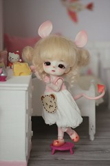 Petite voleuse de fromage 🐭 (Loony-Doll) Tags: loongsoul jomee loongsouljomee mouse mushroom doll bjd dolls makeup fullset glasseyes eyes wig
