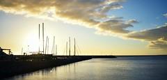 (Giovanni Rottoli) Tags: travel uruguay sea atlantico sunset port mar puerto barco ship