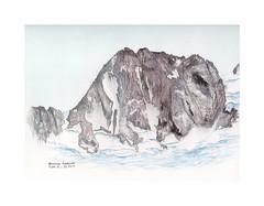 Les Grandes Jorasses (Yvan LEMEUR) Tags: grandesjorasses glacier glacierdeleschaux mountain montagne hautemontagne alpinisme chamonix massifdumontblanc hautesavoie aquarelle watercolour peinture acuarela alpes facenord