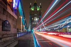 Tower Bridge (Rich Walker Photography) Tags: bridge towerbridge london longexposure longexposures longexposurephotography canon england efs1585mmisusm eos eos80d bus lighttrails nightshot nighttime nightlights night cityscape