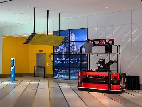 Miami Heat Kiosk MiamiCentral Brightline Station
