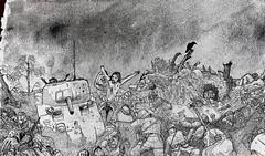No man's land (Arthur Rx) Tags: no mans land art black white aquarelle war napoleon world medieval picture wallpaper panorama
