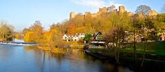 LUDLOW CASTLE AND THE RIVER TEME (chris .p) Tags: ludlow castle shropshire nikon d610 view capture river autumn 2018 water trees town november england uk landscape