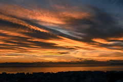 DSC_2432 (athanecon) Tags: alimos alimosview saronikos saronic saronicgulf dusk thebluehour bluehour aegina island sea sky clouds colors colours sunset fireinthesky
