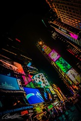 Times Square by night (corineouellet) Tags: travel nightshot nightscape lights nightlights nightlife night canonphoto canon hdr pov timessquare newyorkcity newyork nyc cityscapes cityscene city art buildings pointofview pointdevue