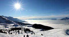 Grenoble sous les nuages (Clément660) Tags: snow mountain merdenuages les7laux soleil landscape