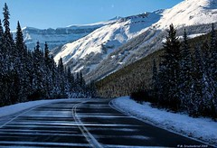 Melting Snow on the Icefields Parkway in Banff National Park, Alberta Canada (PhotosToArtByMike) Tags: icefieldsparkway saskatchewanrivervalley meltingsnow snow banffnationalpark canadianrockies banff albertacanada mountain mountains alberta