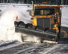 Plow Closeup, Icefields Parkway, Banff (PhotosToArtByMike) Tags: icefieldsparkway snowplow plow snow banffnationalpark canadianrockies banff albertacanada mountain mountains alberta
