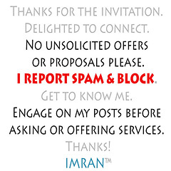 Stop Spammy Solicitations From New Connections - IMRAN™ (ImranAnwar) Tags: square instructions nospam imran warning imrananwar linkedin netiquette humor apollobeach florida unitedstates us
