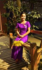 Friendly waitress (Frühtau) Tags: country land burma burmese μυανμάρ 버마 buddhism ミャンマー myanmar people stuff birmanya βιρμανία mjanmarsko мианмар 缅甸 мјанмар girl woman restaurant smile fiendly culture leute