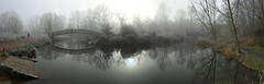 UEA River Yare bridge - ground level (John D Fielding) Tags: river yare fog mist norfolk norwich bridge