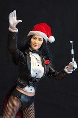 2018 Phicen/TBLeague Advent Calendar - Day 5 (edwicks_toybox) Tags: 16scale tbleague brunette femaleactionfigure fishnetstockings ladymagician phicen santahat seamlessbody tuxedo