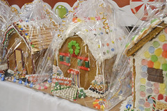 Gingerbread House Decorated by Front Desk (NottawasagaResort) Tags: nottawasagaresort nottawasaga nottawasagainn nottawasagainnresort inn resort hotel raffle humane society gingerbread gingerbreadhouse candy house chocolate frosting christmas charity alliston allistonontario donation staff event dogs cats pets sugarplumfair sugar plum fair spf barbie cookie monster local animals