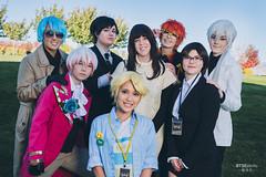 V (김지현), Jumin Han (한주민), 707 (최루시엘), Zen (류 현), Ray (최세란), MC, Jaehee Kang (강제희) & Yoosung Kim (김유성) (BTSEphoto) Tags: cosplay costume play コスプレ convention anime banzai layton utah davis conference center fuji fujifilm xt2 portrait flashpoint ttl pocket flash evolv 200 r2 godox a200 mystic messenger 수상한메신저 v 김지현 jumin han 한주민 707 최루시엘 zen 류 현 ray 최세란 mc jaehee kang 강제희 yoosung kim 김유성 cheritz video game fujinon xf 23mm f14 r lens main character
