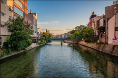 Fukuoka Canal (Martin Smith - Having the Time of my Life) Tags: fukuoka japan2018 japan canal peace tranquility nearsunset bridges martinsmith fukuokashi fukuokaken jp bridge