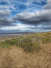 Sand Bay (bluebell girl) Tags: northsomerset nature sky clouds seascape landscape westcountry canon sanddunes shore coastline sea coast dunes sand beach sandbay
