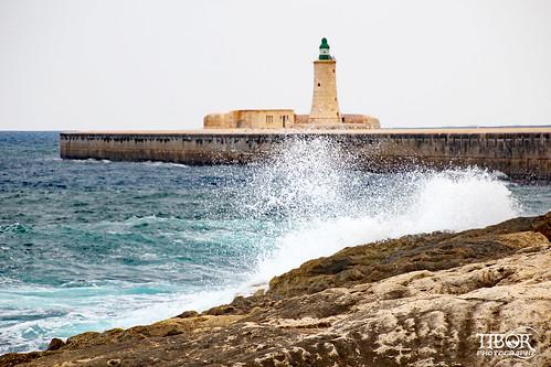 Lighthouse at Fort Saint Elmo