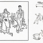 Woodcut icons of a family by Julie de Graag (1877-1924). Original from The Rijksmuseum. Digitally enhanced by rawpixel thumbnail