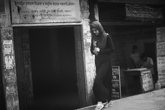 Do Not Blame Me Now ! (N A Y E E M) Tags: girl woman burqa candid morning street kazirdewri chittagong bangladesh windshield