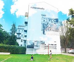 Berlin (kirstiecat) Tags: berlin germany theberlinwall kids play children world europe clouds multipleexposure creative artistic run ackerstrabe
