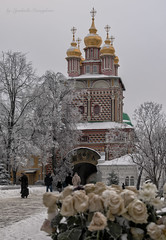 Church of St. John the Baptist (Lyutik966) Tags: churchofstjohnthebaptist trinitysergiuslavra sergievposad russia religion orthodoxy architecture dome arch snow tree nature building rose monastery visualart