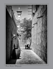"""The Thinker"" (flavius200) Tags: flavius200 dorking photocraft omani portrait camera club woman bedu bedouin arabia desert sand scrub mountain mono monochrome black white nikon d200 wilfred thesiger desolate isolated uae 4x4 camping alone traveller exploring tribes david harford morning evening night market souk souq"
