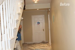 Hall, interior painting, before