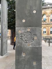 Ipswich Town Centre, Cornhill, December 2018 (Richie Wisbey) Tags: ipswich suffolk town centre cornhill art cornhenge scruffy ibc waste money nina layard sutton hoo boss hall helmet brooch charter edith cook flint biface clarkson ransome wolsey alf ramsey bobby robson itfc