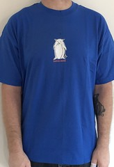 #3141A Superchunk - Penguin Bird Guy (Minor Thread) Tags: minorthread tshirtwars tshirt shirt vintage rock concert tour merch blue superchunk penguin bird guy merge records punk indie