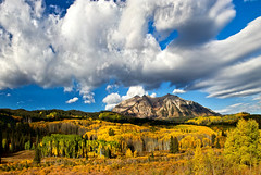 Amazing Fall (valentina425) Tags: colorado rocky mountains landscapes fall autumn aspen pass colorful hiking tree forest wood grass landscape field mountain sky