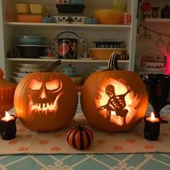 Pumpkin carving (AquaOwl) Tags: pumpkincarvings pumpkins