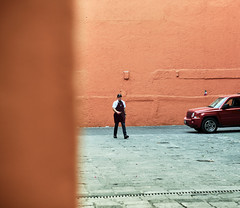 Street and color (Frederik Trovatten) Tags: orange color streetphotography street streets streetportrait streetphotographer streetphotos streetphoto city stranger